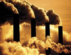 Factories emit harmful gases